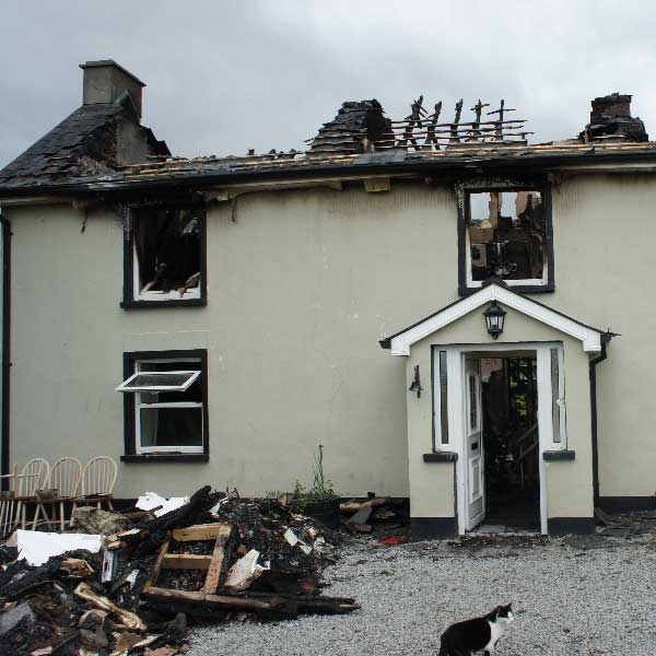 House Fire Insurance Claim